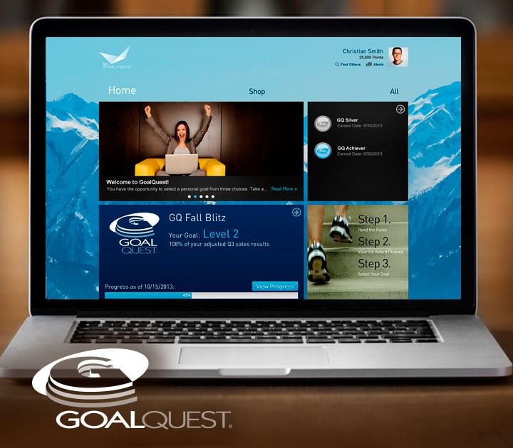 GoalQuest is a patented sales incentives program